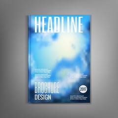 Layout brochure creative design. Vector illustration.