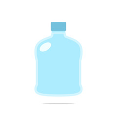 Big water bottle icon vector