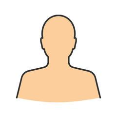 Man's silhouette color icon