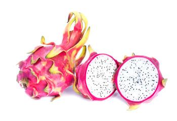 Dragon fruit isolated on white background