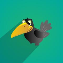 crow flat design