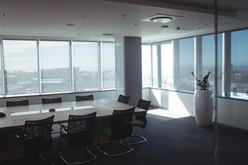 Interior of empty meeting room