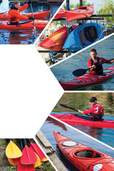 collage on the topic of kayaking