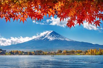 Wall Mural - Autumn Season and Mountain Fuji at Kawaguchiko lake, Japan.
