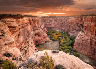 Sunrise at Canyon de Chelly Wall mural