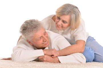 senior couple posing