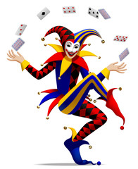 Joker with playing cards