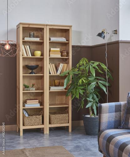 Bookshelf Corner At Home With Ornaments