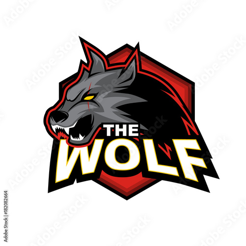quotthe wolf vector logo designquot stock image and royaltyfree