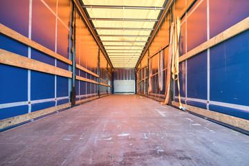 cargo area of a curtain side trailer