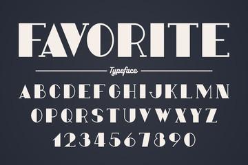 Vanguard vector decorative bold font design, alphabet