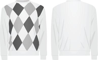 White sweater argyle pattern. vector illustration