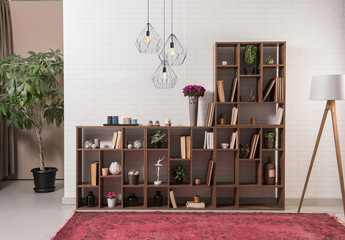 office library interior design decoration bookshelf room style