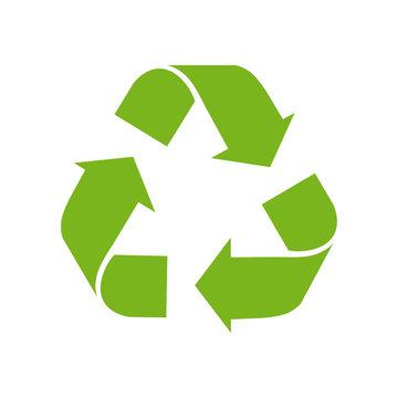 Recycle logo green vector