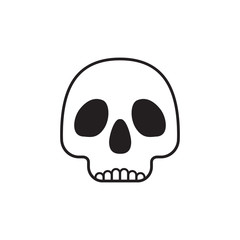 Skull symbol isolated on white background.