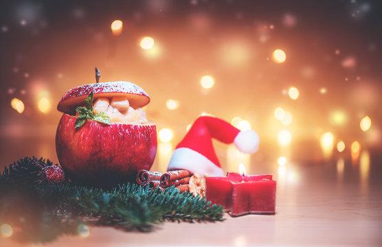Dessert zu Weihnachten - Bratapfel