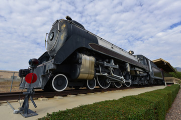 A vintage steam locomotive in America