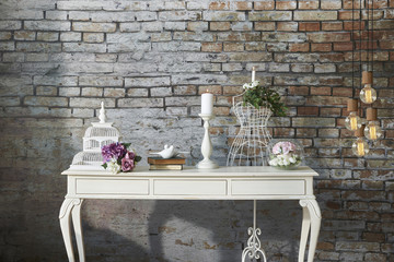 modern brick wall interior