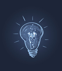 Glowing Electric Bulb Icon Vector Illustration