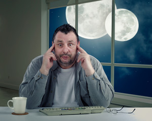 Man has never seen double moonlit night