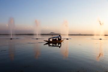 Sunset at Dal (lake) - Srinagar, Kashmir, India