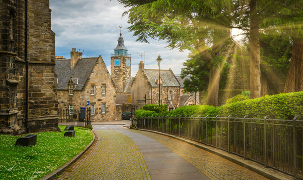 Path leading to Stirling old town, Scotland