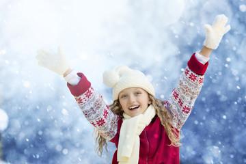 Winter season: Happi Girl Enjoying Snow