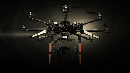 Big Carbon Drone dslr dji summer in photo studio