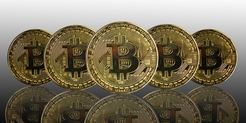 golden bitcoin coin. cryptocurrency