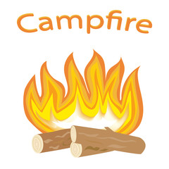Flame. The fire of wood. Burning fire. Icons fire perfect for decorating your project. Vector illustration.