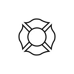 Firefighter emblem icon
