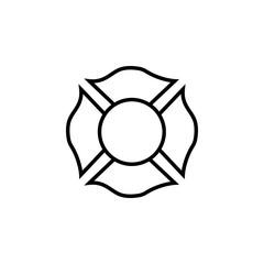 Firefighter emblem icon