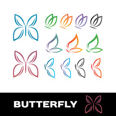 butterfly simple and cute icons