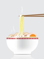Hot Noodle Background Illustration