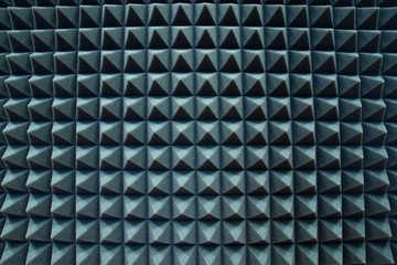 Sound acoustical foam in recording studio.