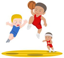 バスケットボール ダンクシュート 外国人