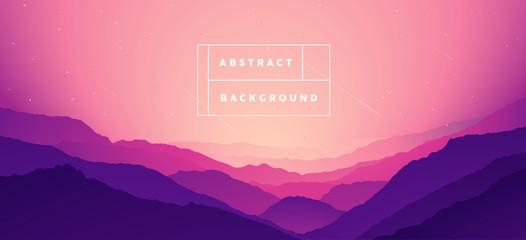 Landscape mountain Abstract gradient bg vector