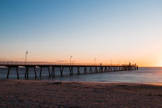 Long jetty at Glenelg Beach, Adelaide, Australia.