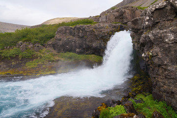 Beautiful Gongumannafoss in Iceland.
