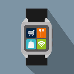 smartwatch with option to shopping online and nfc payment