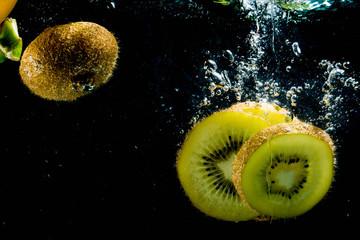 Аква натюрморт, фрукты овощи