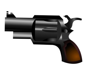 Vector image of small gun weapon icon isolated