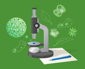 Biological Examination Cartoon Style Illustration