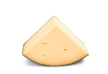 piece of dutch cheese isolated