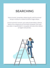 Searching Visualization Poster Vector Illustration