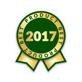 ribbon award best product of year 2017 gold ribbon award icon
