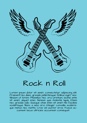 Rock and Roll Music Poster Vector Illustration