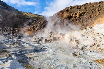 fumarole in Krysuvik area, Iceland