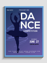 Dance auditions flyer or poster design.