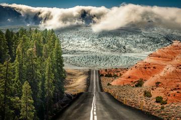 Weltreise, Straße in der Natur